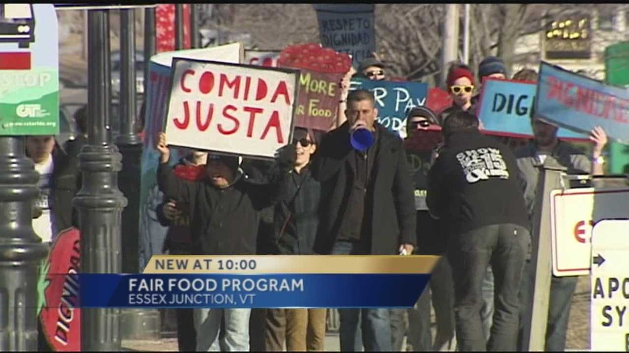 Advocates for agriculture workers protested in front of Wendy's Thursday evening. They want the fast food restaurant to join the Fair Food Program.
