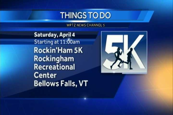 Feeling up for a run?  The Rockingham 5k Run to benefit the Central Elementary School Parent-Teacher Organization kicks of at 11 a.m. at the Rockingham Recreational Center in Bellows Falls.  You can sign up starting at 9 a.m.