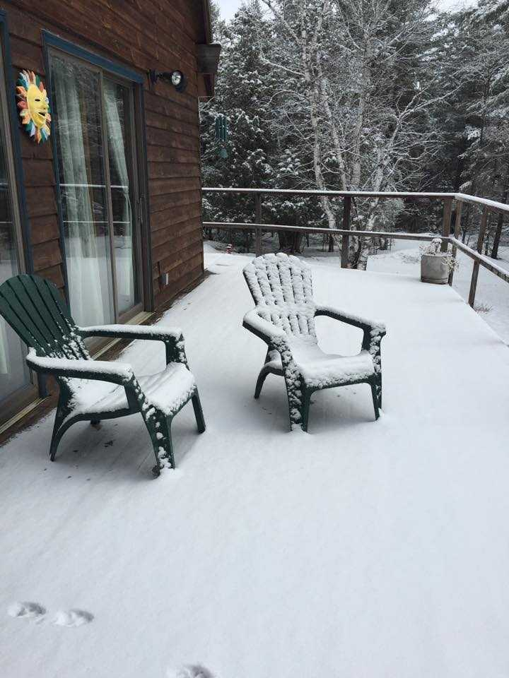 Cathie sent this in saying she won't be laying out in the sun or warmth anytime soon.