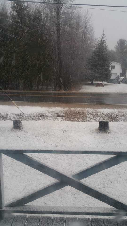 """Dale says this was his """"wake up weather"""" in Beekmantown"""