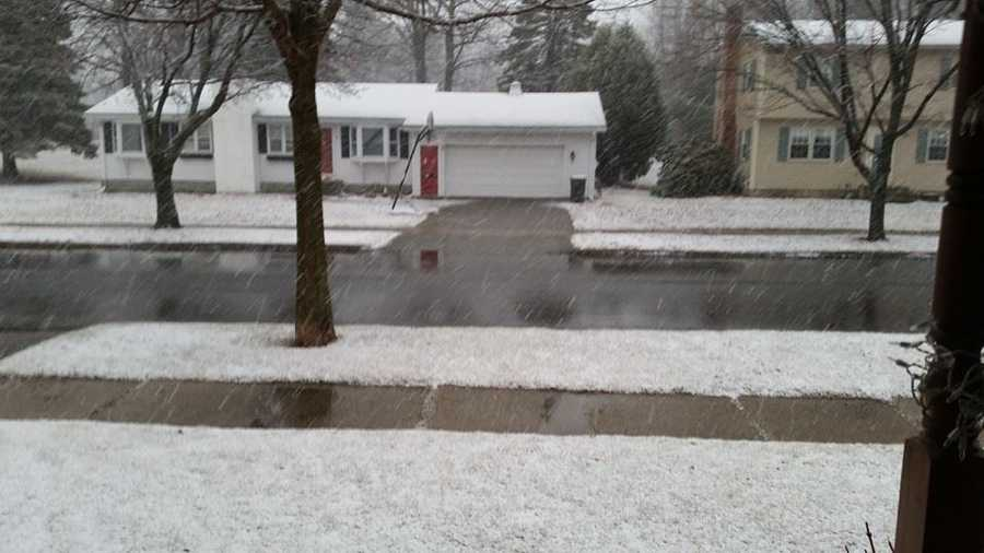 This was what it looked like in Jill's front yard this morning