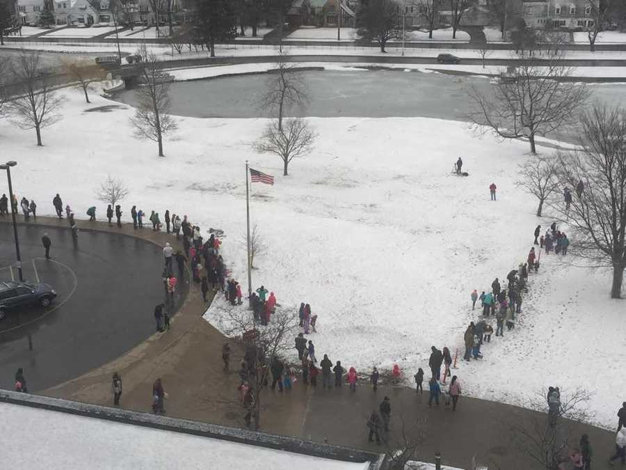 """A """"bird's eye view"""" of the Easter egg hunt at CVPH"""