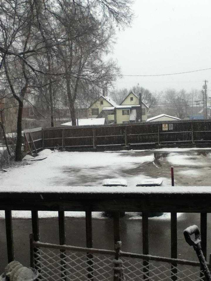 Bruce shared this wintry scene with us