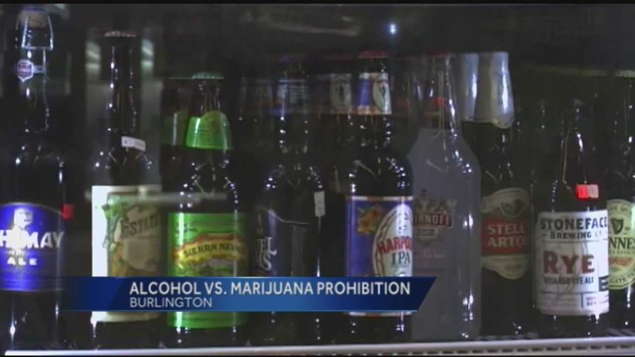 Two Burlington representatives are frustrated marijuana legalization bills haven't gained any traction. So they proposed an alcohol prohibition bill to make a point.