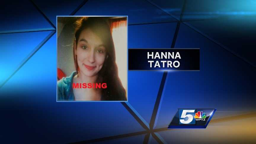 New York State Police are looking for runaway teen Hanna Tatro, 17, of Messena, N.Y. She is believed to be in the Messena or Norfolk area, but has ties to Watertown.