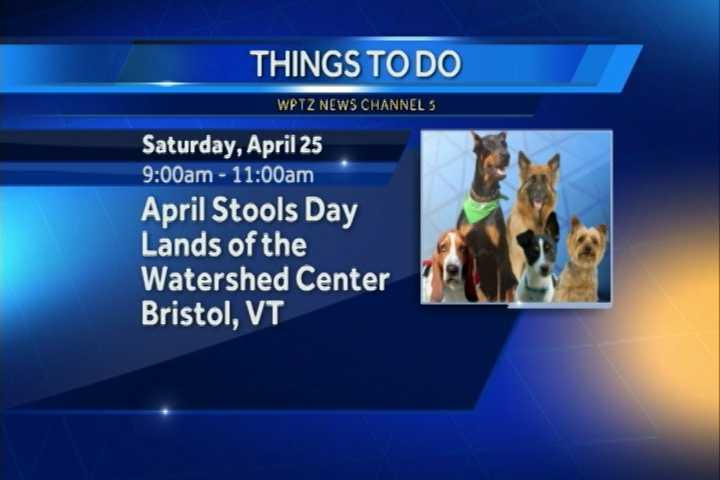 April Fool's Day may be over, but get ready for April Stool's Day in Bristol.  It goes from 9 - 11 a.m. at the Lands of the Watershed Center.  There you can help clean the parks and trails.