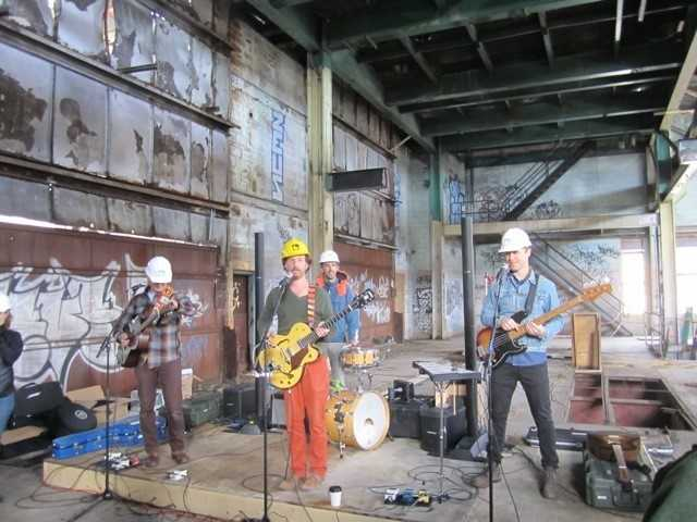 Guster played a pop up concert Thursday in Burlington's Moran Plant.