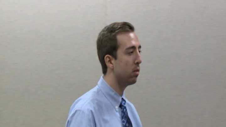 Anthony Giroux, 21, pleaded not guilty to child pornography charges in court.