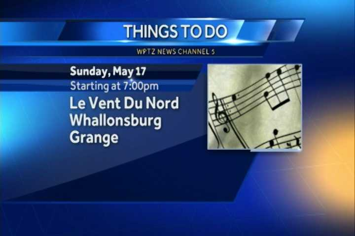 One of the best bands of the Quebec music scene will be in Whallonsburg today. Le Vent Du Nord will play at 7 p.m. At the Whallonsburg Grange.