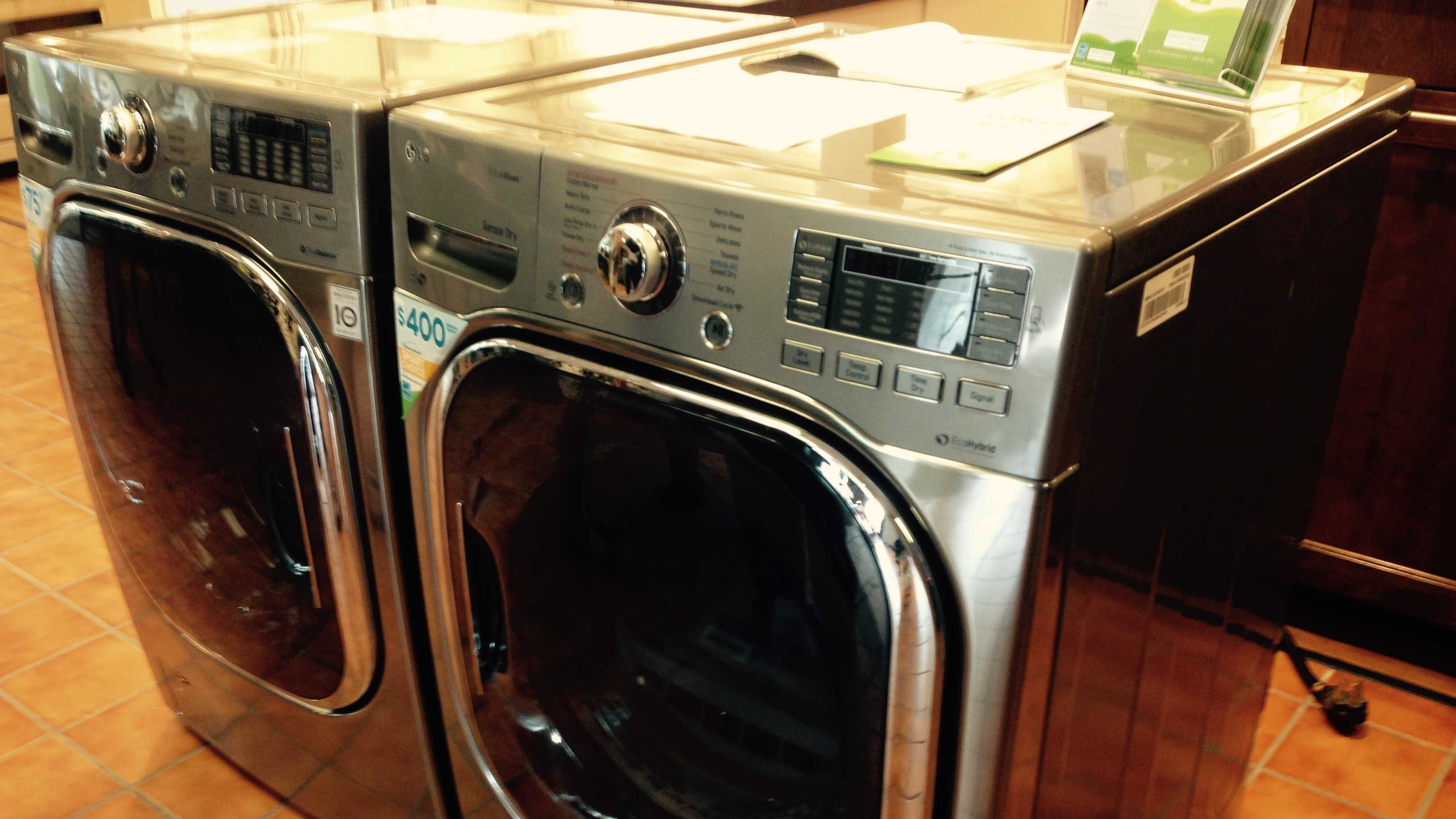 An electric heat pump clothes dryer for sale at Bouchard-Pierce Appliances in Essex Junction.