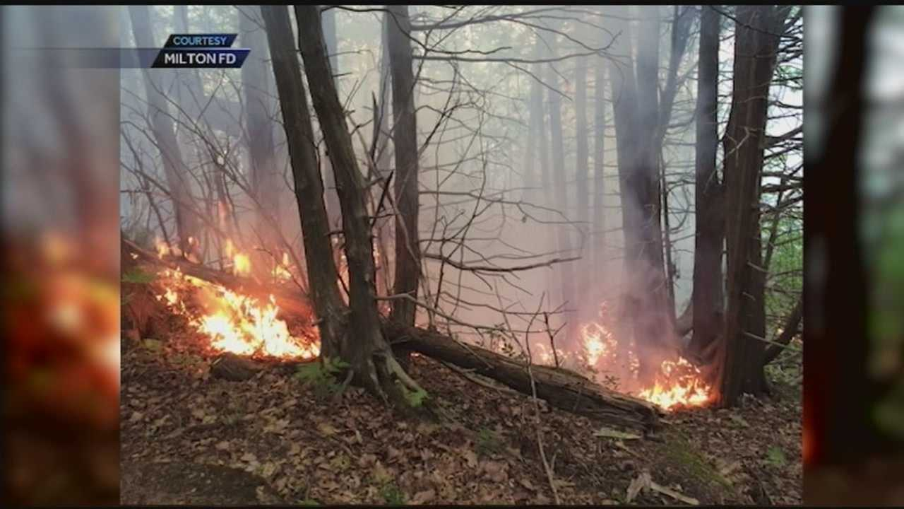 Crews worked nearly 12 hours Friday to fight the fire near Eagle Mountain in Milton.