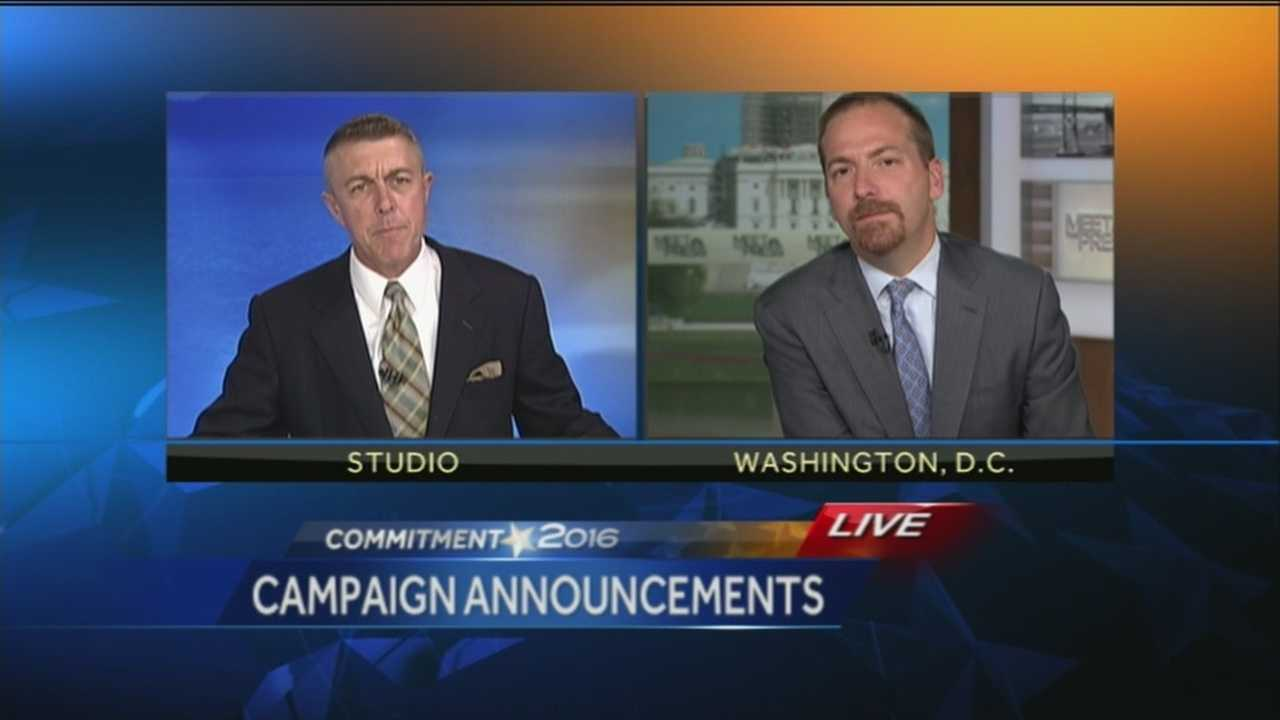 WPTZ's George Mallet asks Meet the Press's Chuck Todd about Bernie Sanders, George Pataki and other 2016 presidential candidates.