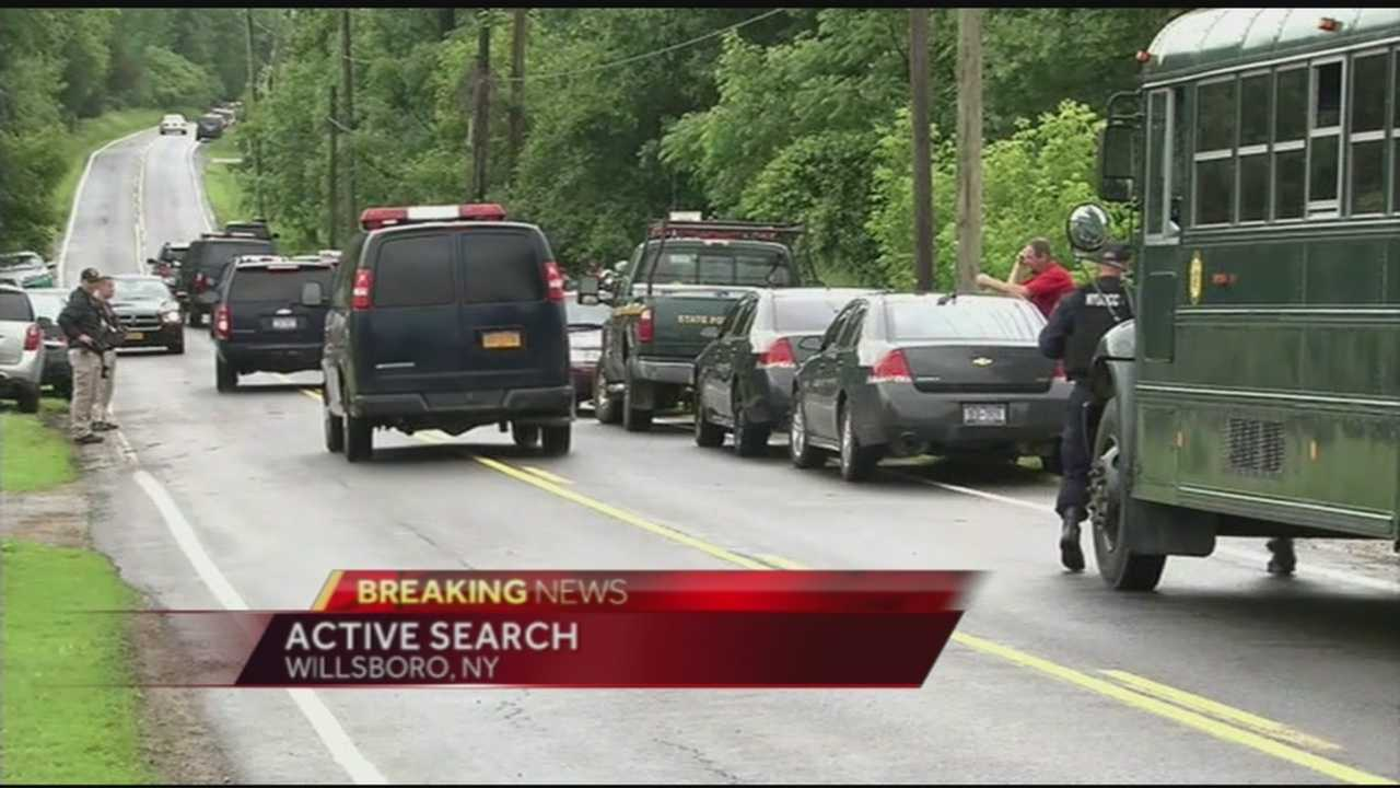 Authorities are on the scene at a Willsboro location searching for two escaped prisoners. Vanessa Misciagna reports.