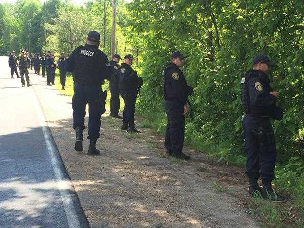 New York State Police were conducting a second search of homes in the village of Dannemora Wednesday.
