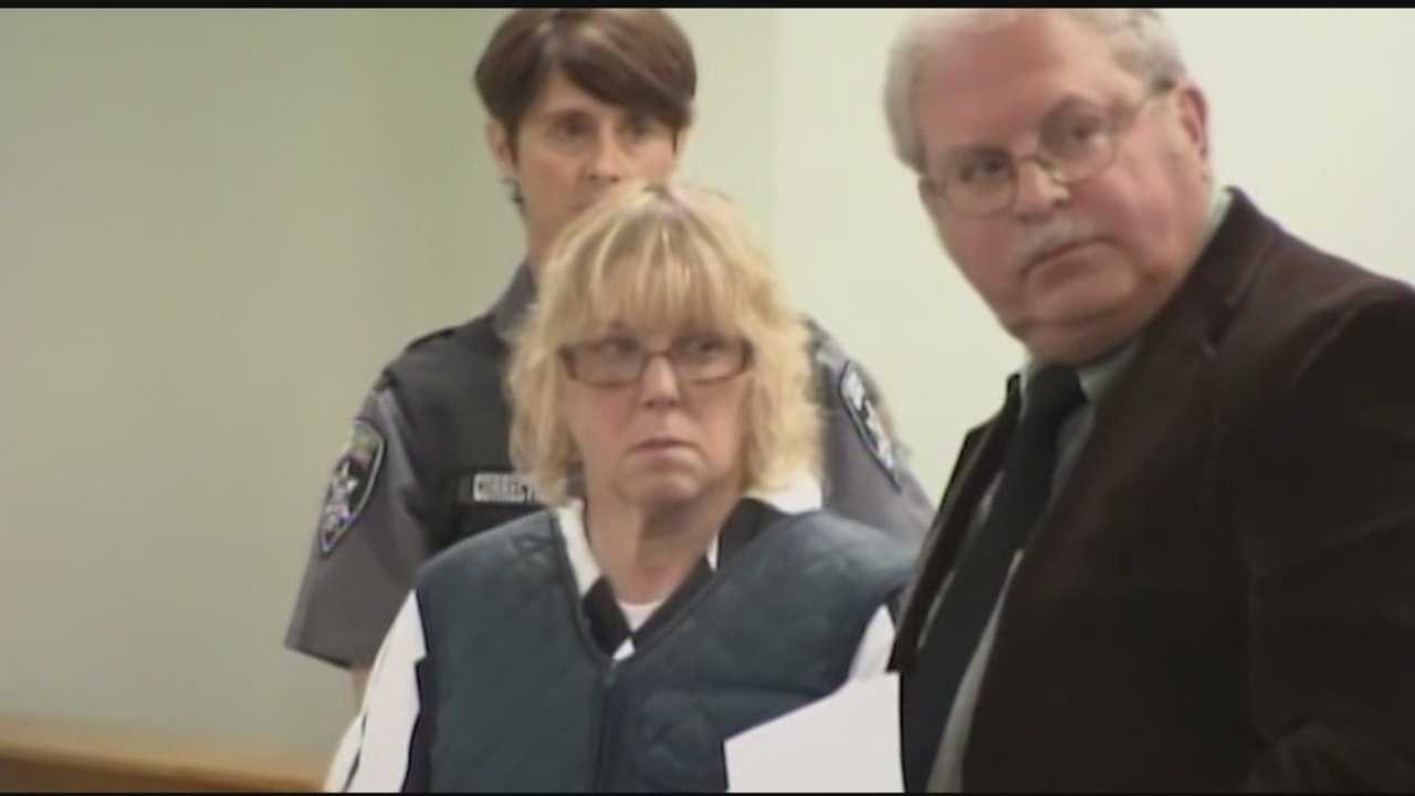 Wearing a prison jumpsuit and what appeared to be a bulletproof vest, Joyce Mitchell went before a judge Monday for the second time since Friday's arrest.