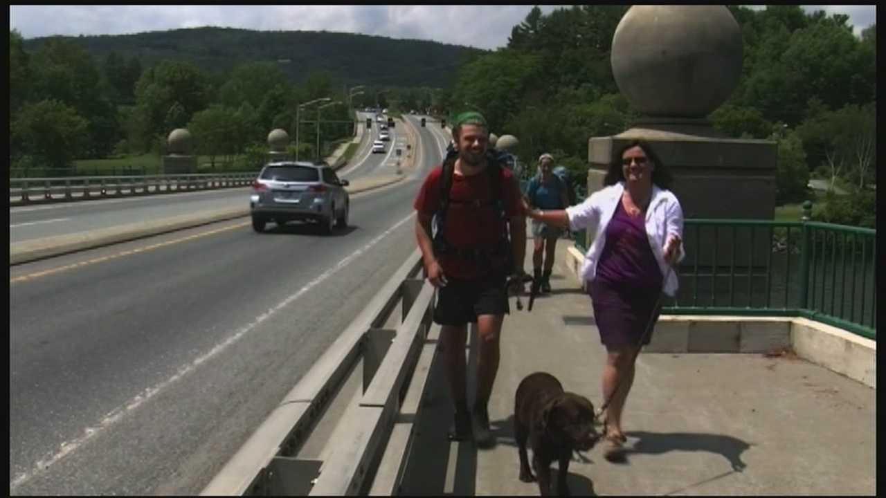 20-year-old Jesse Ross has taken a semester off from the University of New Hampshire to hike the Appalachian Trail - and he's doing it for a cause. He's raised thousands of dollars for the Children's Hospital at Dartmouth-Hitchcock, because that's where doctors helped save his life.