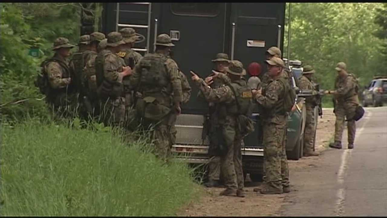 Multiple units rushed to an area in Mountain View Tuesday afternoon as authorities continue their search for Richard Matt and David Sweat.