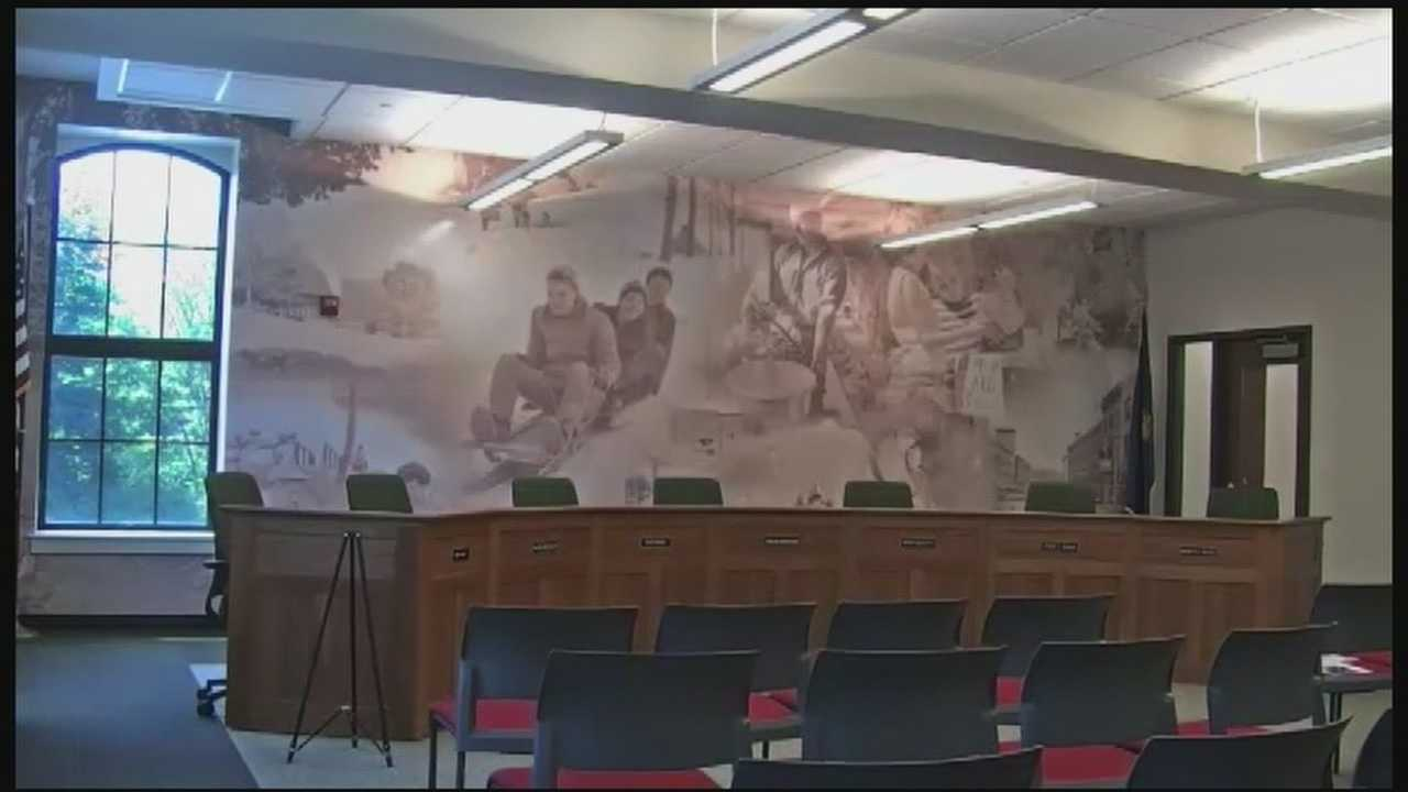 Hartford town officials are asking for the public's help in identifying people in a newly-installed mural in the town hall.