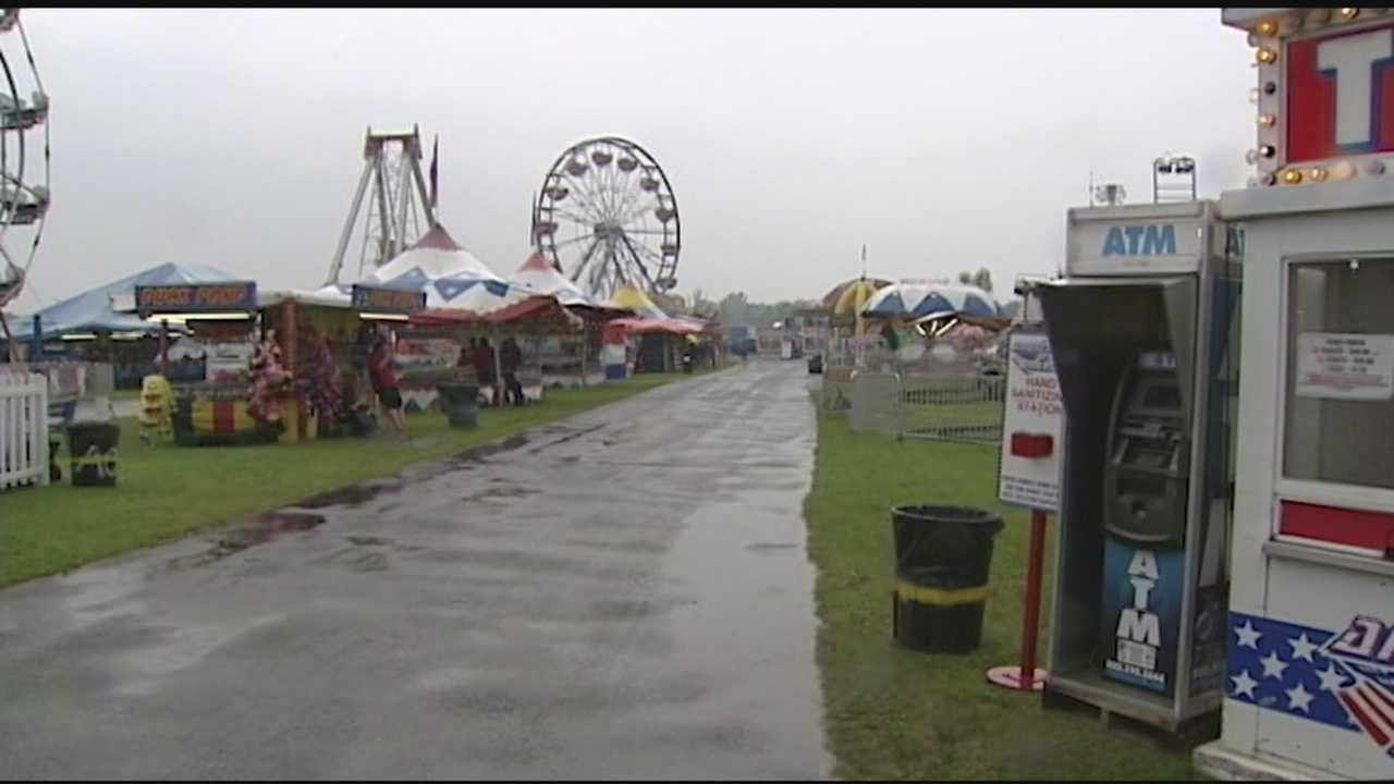 Clinton County Fair on a rainy Thursday.