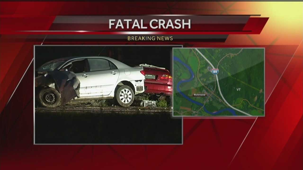 One man is dead after a crash on Interstate 89 in Williston.