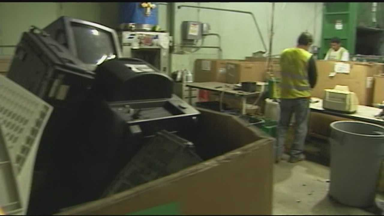 Electronic waste recycling facilities all over the nation are feeling the pinch after the market price they're paid for glass, plastic and metals dropped sharply in recent months.