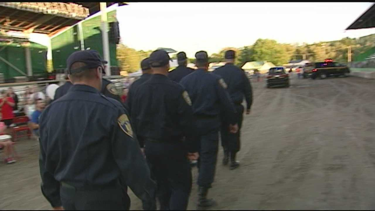 Dozens of law enforcement officials were honored at the Franklin County Fair parade on Thursday for their service during the 3-week long manhunt for escaped inmates Richard Matt and David Sweat.