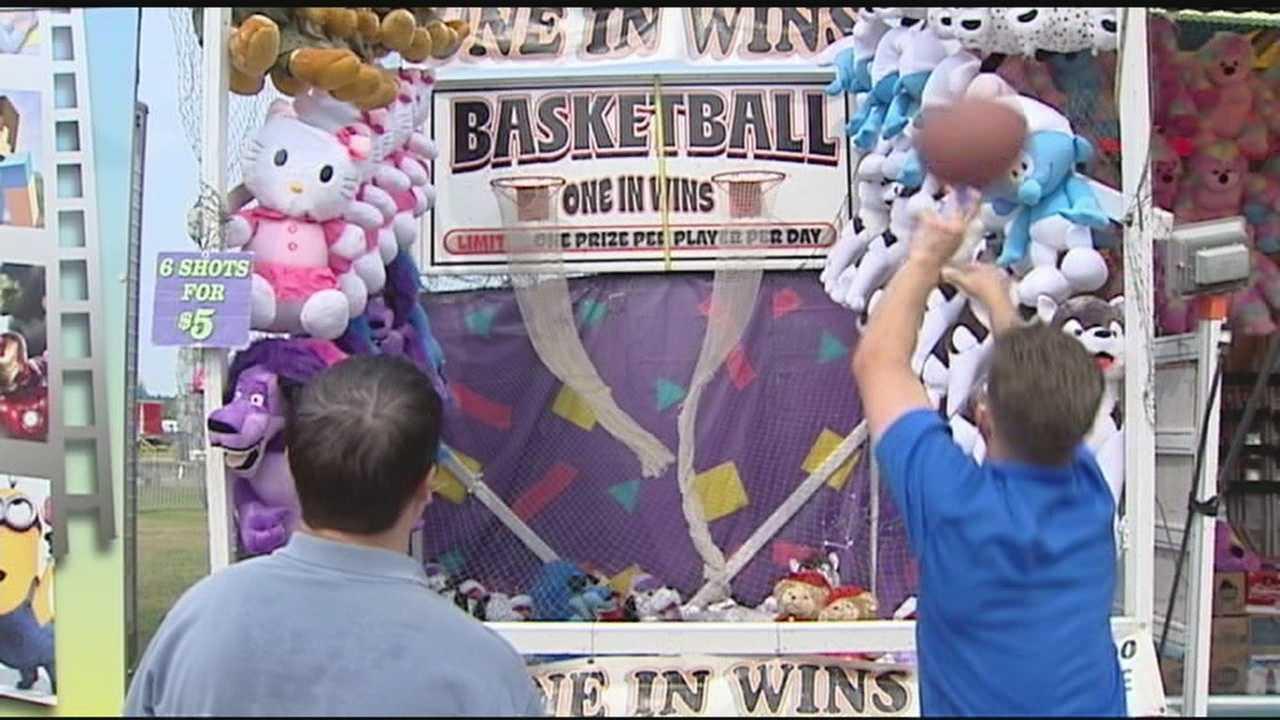 Allmendinger visits Vermont's Champlain Valley fair, shots hoops with Ken