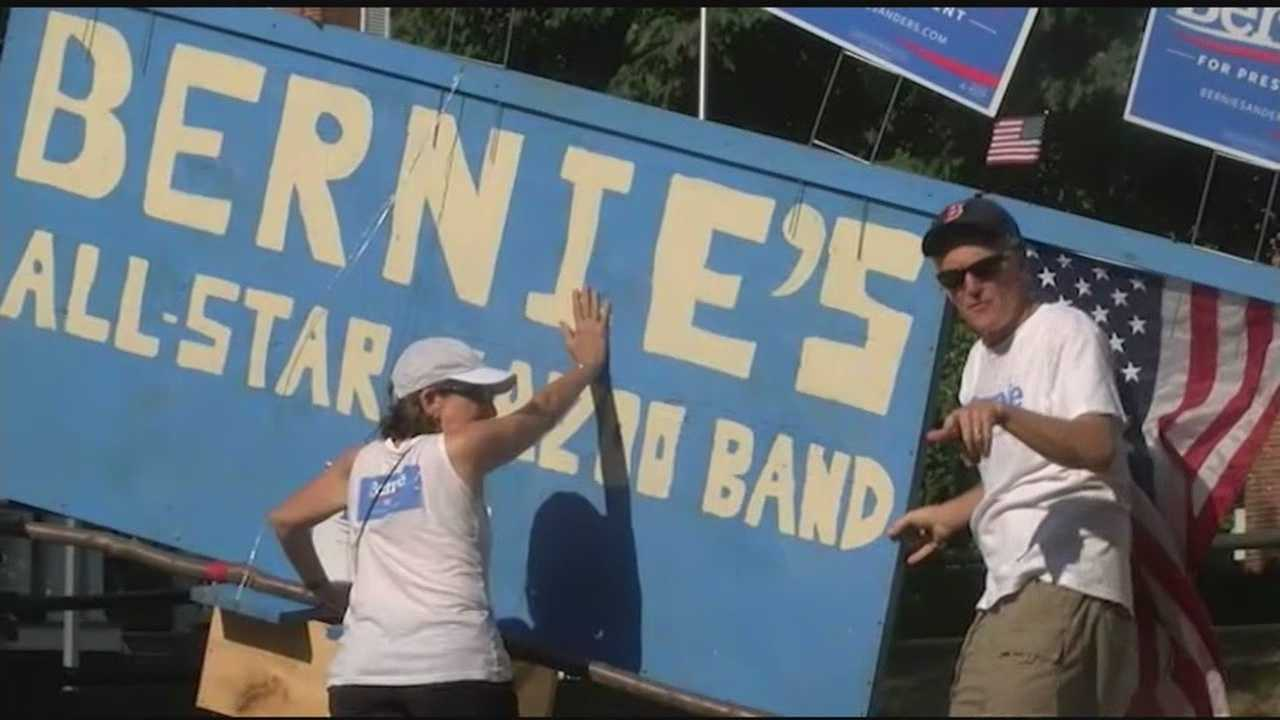 Support for Bernie Sanders continues to pour in at events, including at a Labor Day celebration in Middlebury called Bernie Palooza.