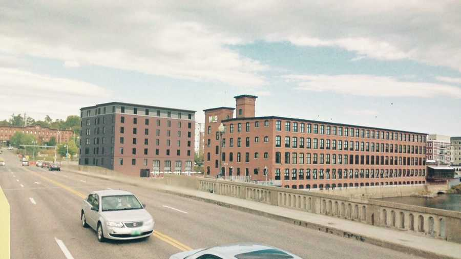 Architect Sketch Of The Proposed 93 Room Hotel Between Champlain Mill And Winooski Bridge