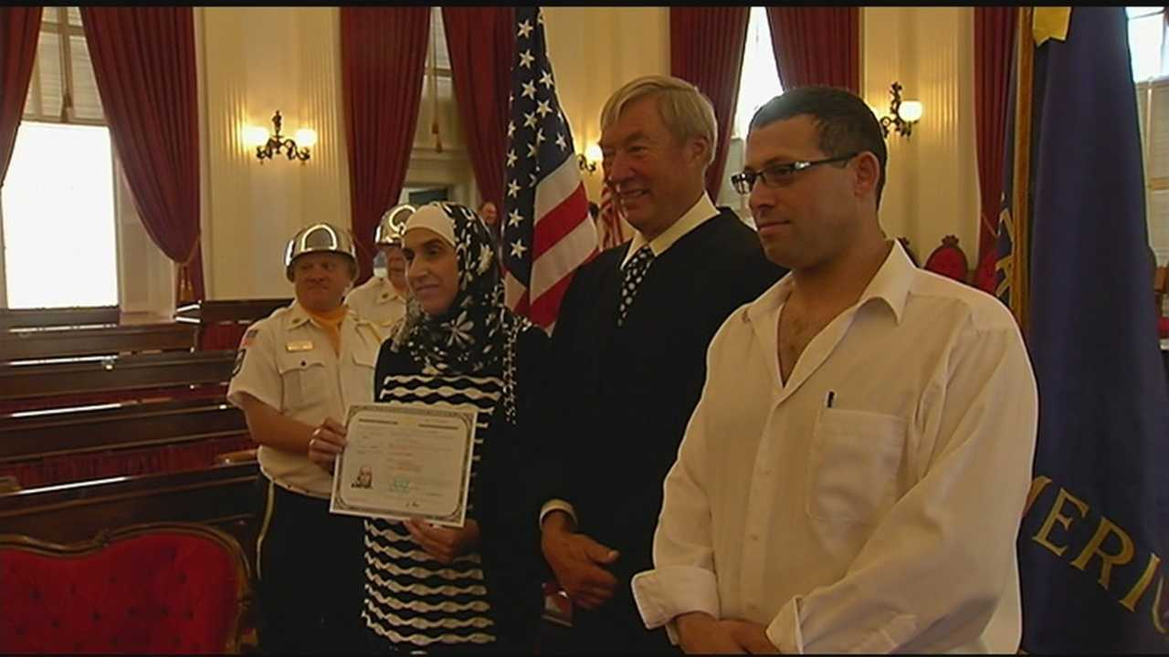 Alkatib and her husband, Nedal Abdallah, said they spent 10 years working to move here, another five pursuing citizenship.