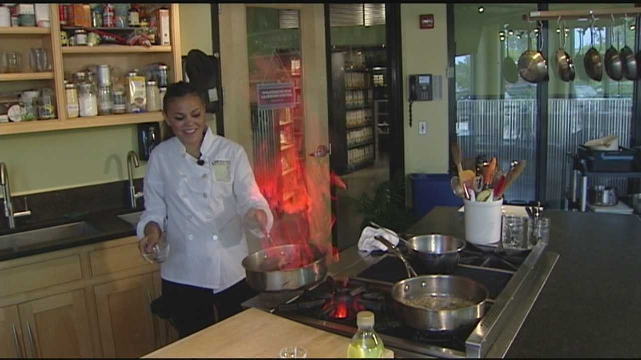 Meteorologist John Hickey goes In The Kitchen with Clarina to whip up a tasty meal.