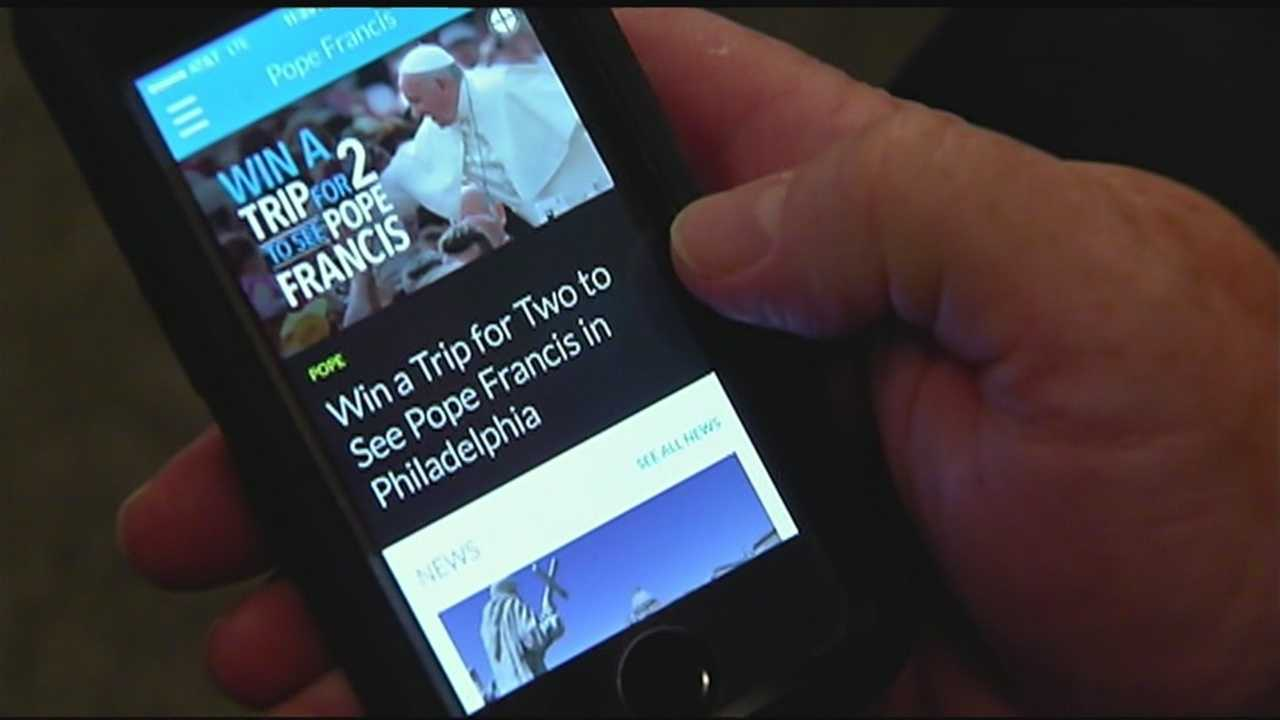 The Catholic Church is using a new app to help parishioners plan their visits to see Pope Francis.