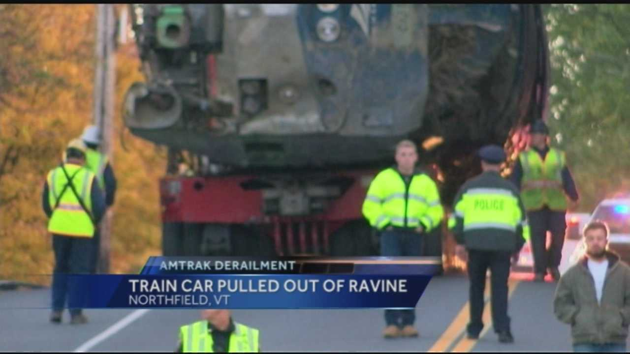 Roads near the intersection of Vermont Route 12A, Vermont Route 12 and Wall Street in Northfield will be closed for an extended period of time Saturday while an Amtrak locomotive is removed, police said.
