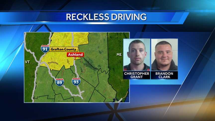 State Police say twenty-six-year old Christopher Grant of Manchester and 25-year-old Brandon Clark of Weare were clocked going 118 mph on a highway in central New Hampshire.