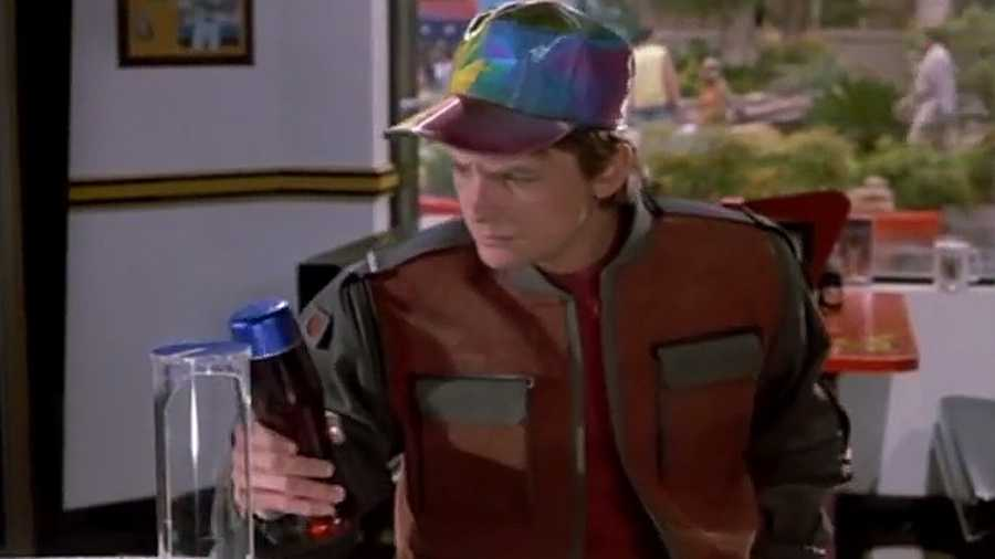 Pepsi Perfect. Marty orders the drink in an 80s-themed diner. Pepsi announced it will make a limited batch that will be sold online only.