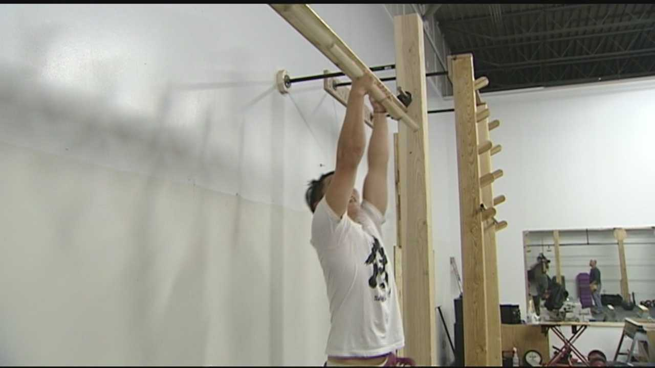 When you think of going to the gym, you probably think of pumping iron. But at Plattsburgh's Powerhouse Gym, you can now train like a ninja warrior.