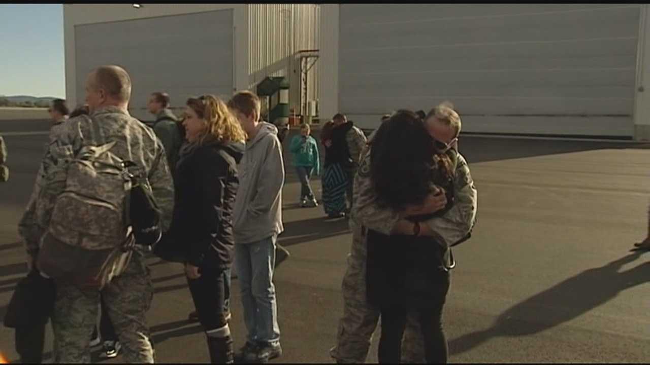 150 airmen landed in Burlington Monday