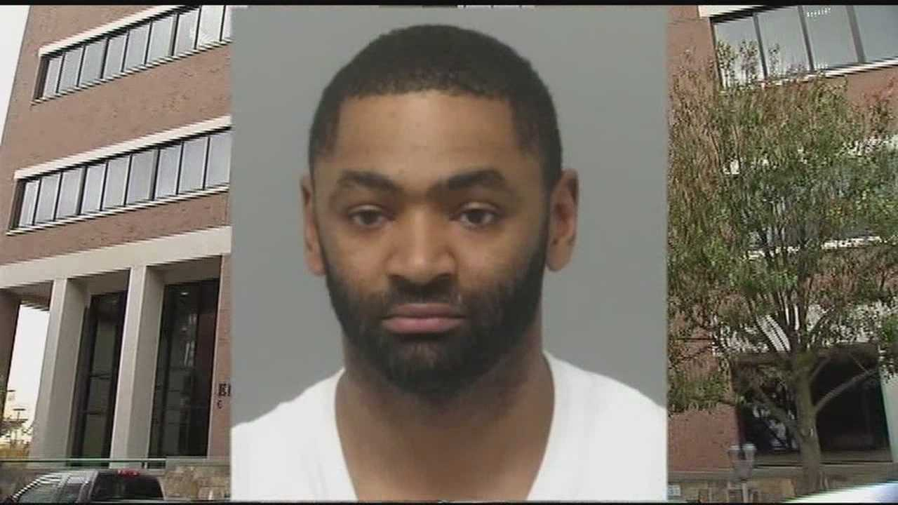 Robert Rosario, 32, allegedly attacked the woman inside a second-floor bathroom at the busy Costello Courthouse.