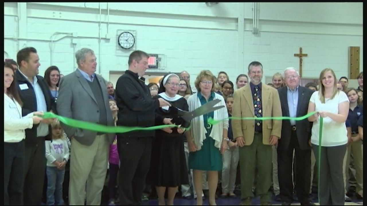 A fire destroyed St. Mary's School in Ticonderoga in early September 2014. A formal ribbon-cutting ceremony was held on Thursday.