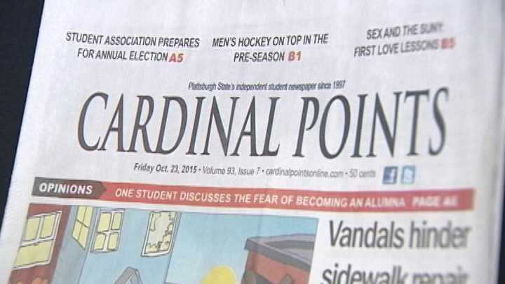 Editors of SUNY Plattsburgh's student-run newspaper Cardinal Points have decided to step down.