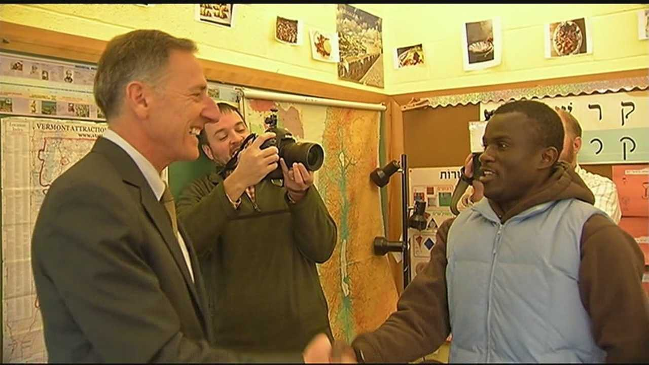 Gov. Peter Shumlin, D-Vermont, reiterated his support for refugees Tuesday, telling new arrivals to the United States that he believes they will make meaningful contributions to Vermont socially, and as part of the workforce.