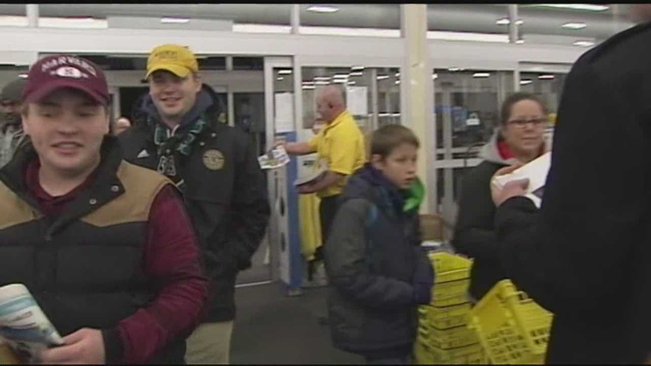 Shoppers got in line early at Best Buy in Williston to get Black Friday deals on big-ticket electronics.