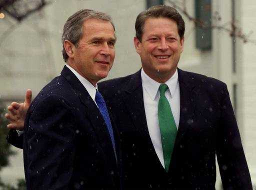 Texas Gov. George W. Bush defeats Vice President Al Gore to be elected 43rd president of the United States. The closeness of the vote count leads to a recount in Florida and forces the Supreme Court to declare a winner more than a month after Election Day. The final official vote tally shows Bush with 537 votes more than Gore.
