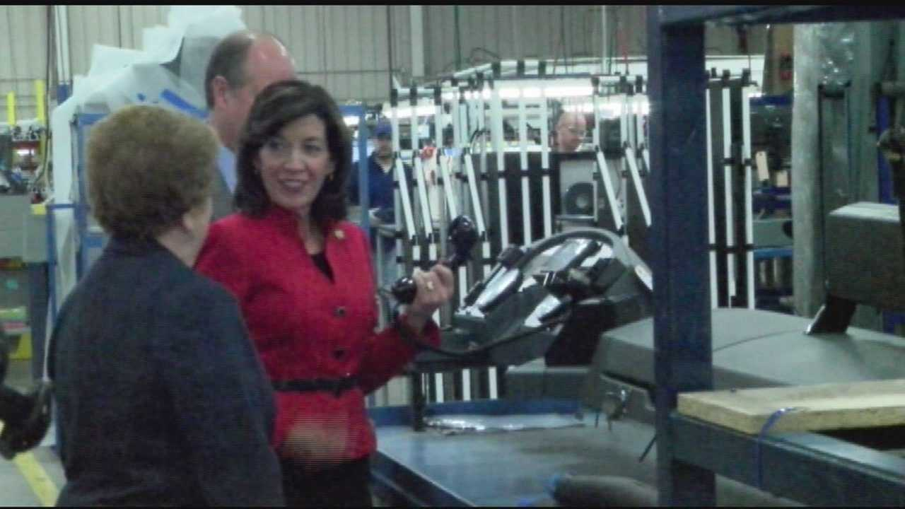 New York Lt. Gov. Kathy Hochul visited Plattsburgh Monday to meet with city leaders and speak about economic and education issues.