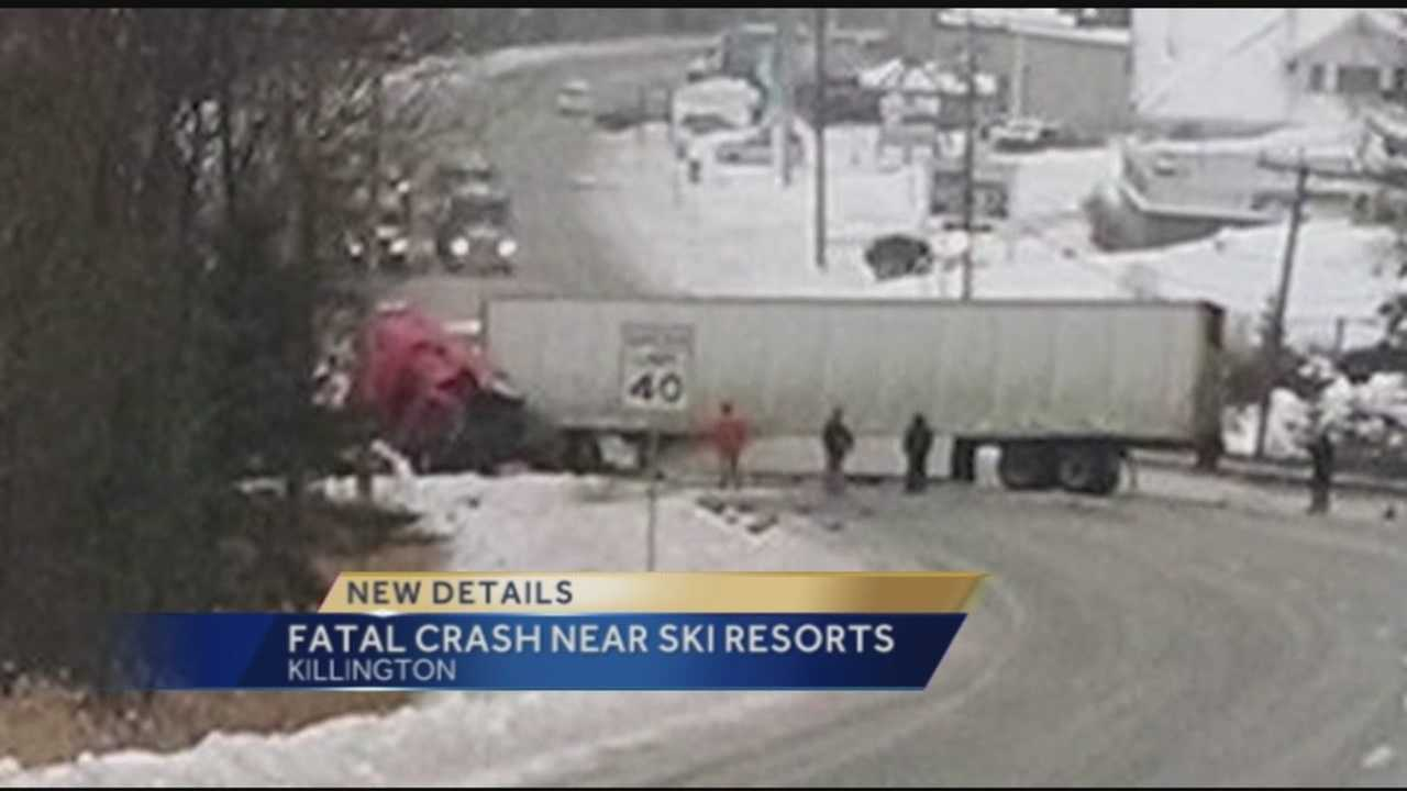 Three people were killed and four others were injured Tuesday afternoon when a sports utility vehicle and a tractor-trailer collided on U.S. Route 4 in Killington, police said.