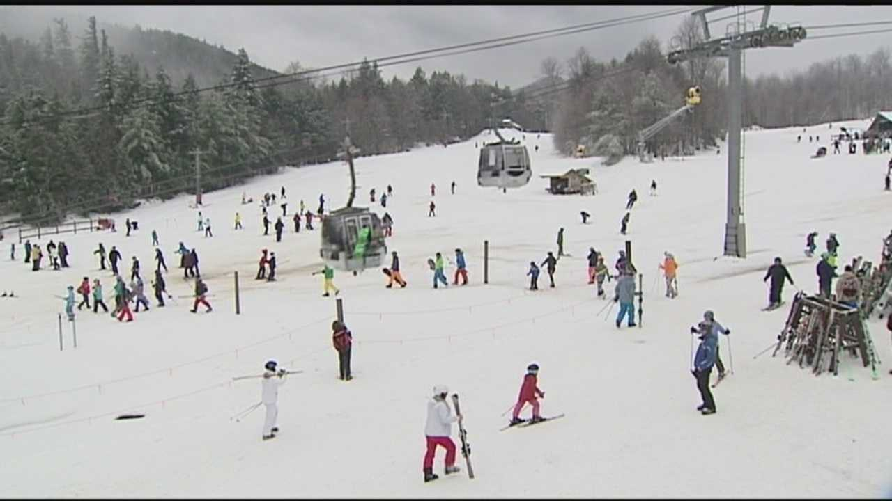 Snow arrives for holiday skiers and riders