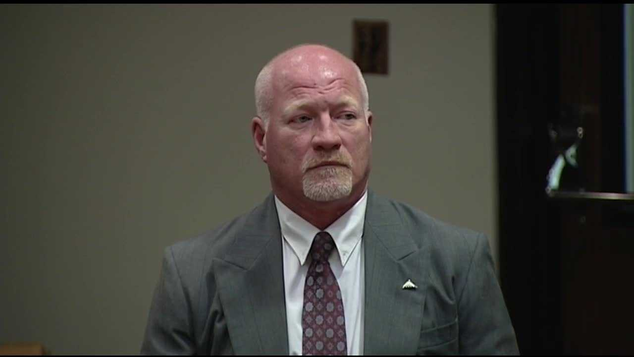 Suspended corrections officer Gene Palmer was in court Friday afternoon for a pre-trial conference.