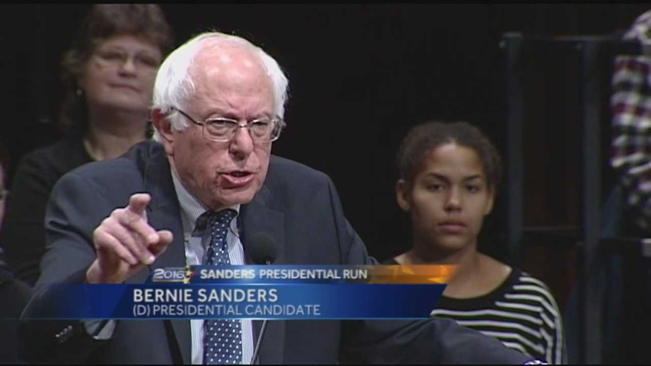 Democratic candidate Bernie Sanders spoke twice Thursday evening - receiving an endorsement in an earlier news conference from former Democratic National Committee Chairman Paul Kirk. With the upcoming primary on sanders mind as well, the former Burlington mayor told audience members to use their vote as their voice for a more inclusive America.
