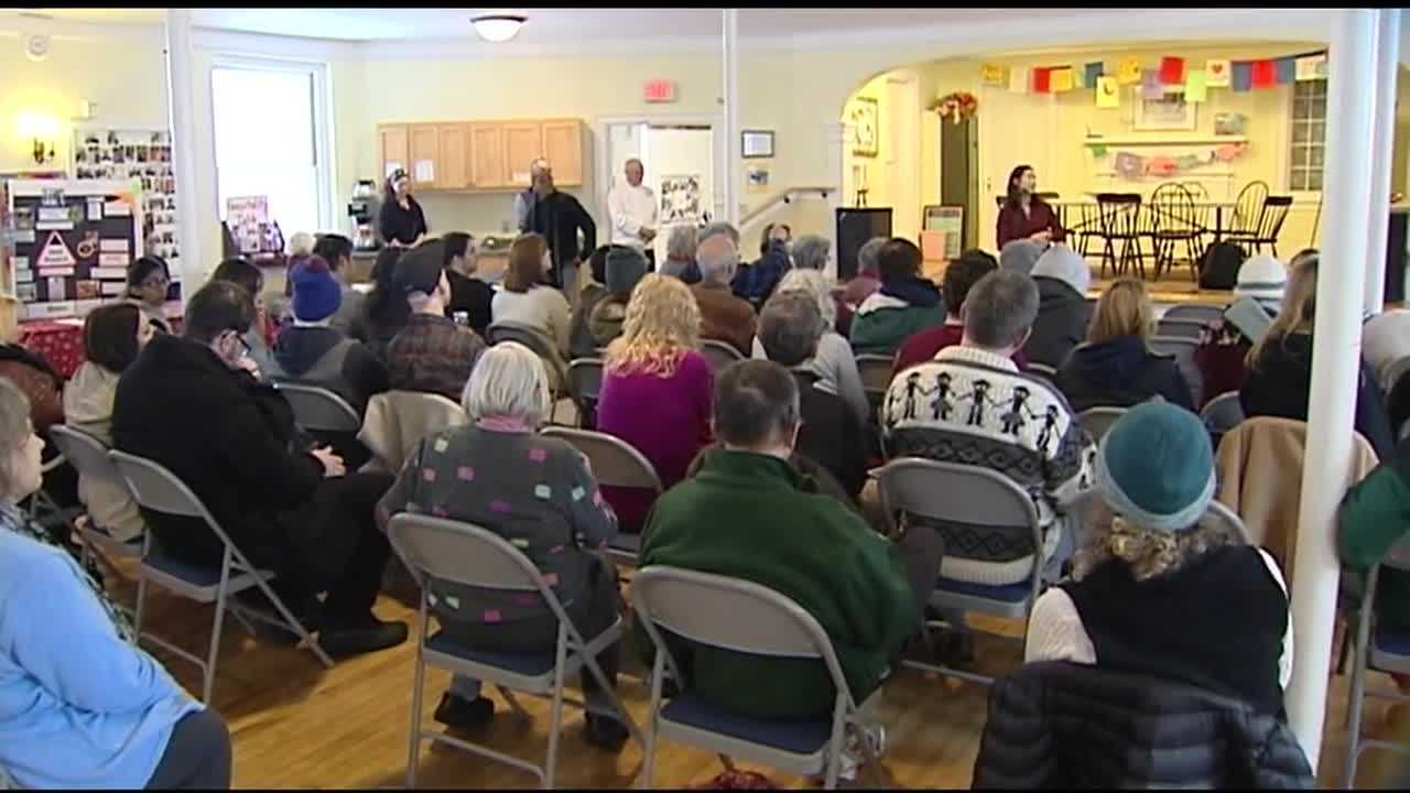 A crowd gathers at the Unitarian Church in Montpelier to remember slain civil rights leader Dr. Martin Luther King, Jr. Last Friday would have been King's 87th birthday.