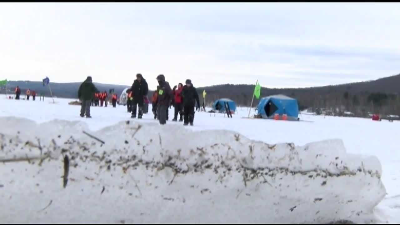 This year's third annual ice fishing festival means bundling up and hoping for a bite.